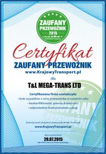 Certyfikat zaufanego przewoźnika